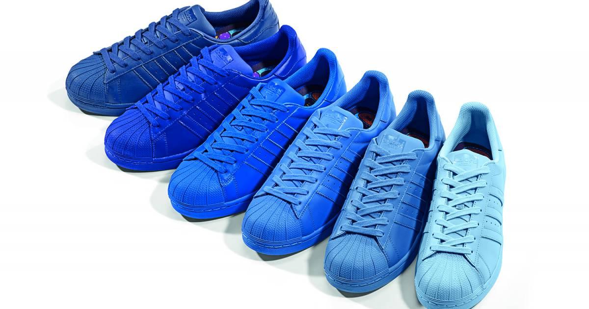 cama eu de bleu pour les supercolor d 39 adidas x pharrell williams disponible au prix de 100. Black Bedroom Furniture Sets. Home Design Ideas