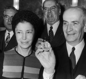 Louis de Funès et Jeanne de Maupassant en 1971.