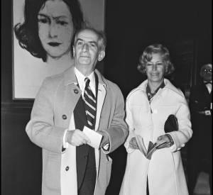 Louis et Jeanne de Funès lors de la première d'un film en 1973.