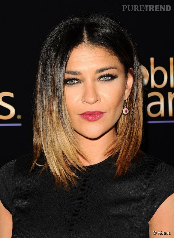 La carr long ou lob est autant un must capillaire que le tie and dye blond jessica szohr a eu - Tie and dye blond cheveux mi long ...