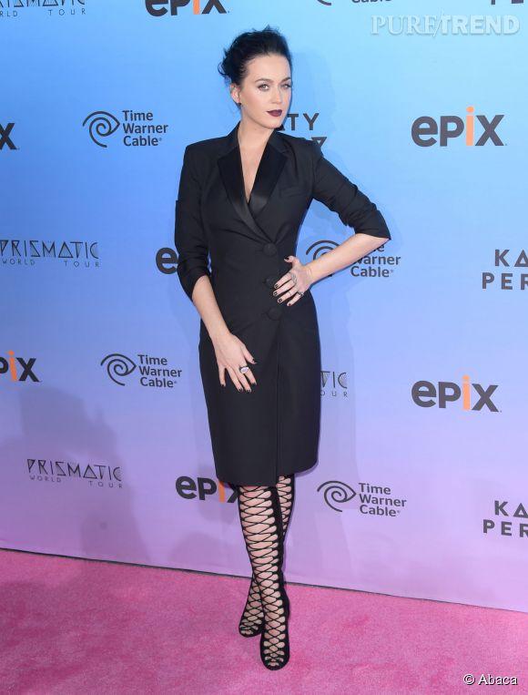 """Katy Perry lors de la projection du film """"Katy Perry The Prismatic World Tour"""" à Los Angeles le 26 mars 2015."""