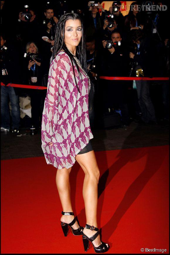 Jenifer, sexy version hippie aux NRJ Music Awards à Cannes en janvier 2007.
