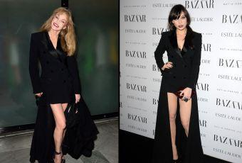 Arielle Dombasle vs Daisy Lowe : la robe tailleur sexy Jean Paul Gaultier