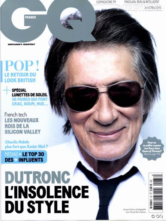 Jacques Dutronc se confie au magazine GQ du mois de mai 2015.