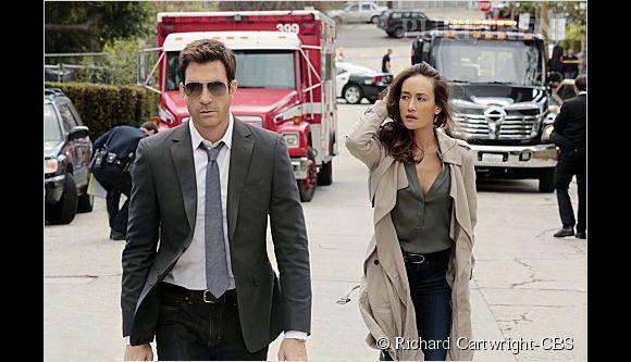 """Dylan McDermott et Maggie Q, le duo de choc de """"Stalker"""", la nouvelle série policière de CBS."""