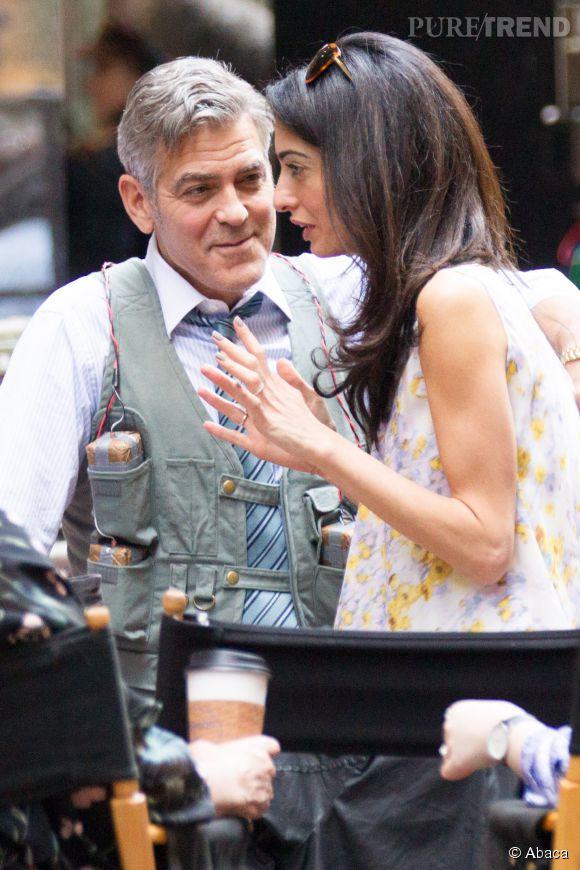 George Clooney dévore des yeux sa femme Amal