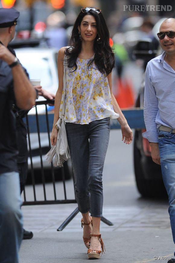 Amal Clooney, sexy dans les rues de New York