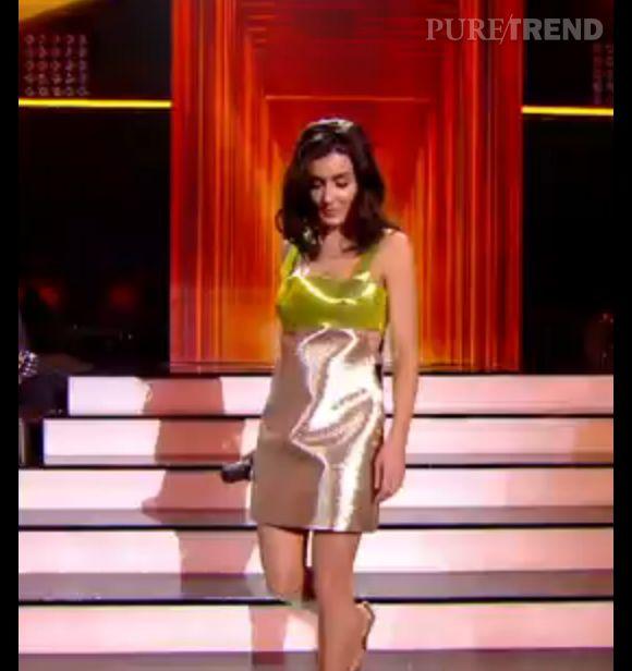 """Jenifer porte une robe Fausto Puglisi pour la demi-finale de """"The Voice"""""""