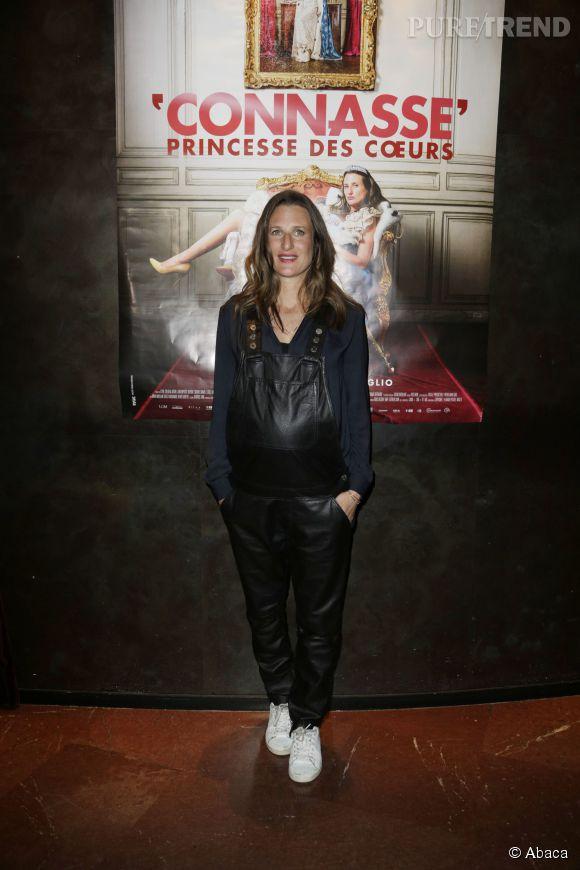 Camille Cottin lors de l'avant-première de son film à Biarritz, le 23 avril 2015.