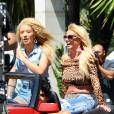 """Britney Spears et Iggy Azalea sur le tournage de leur clip """"Pretty girls"""". Depuis qu'elle a vu ces photos, Brit enrage et s'affame pour maigrir."""