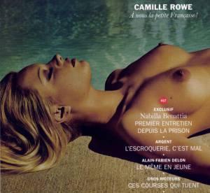 Camille Rowe covergirl de Lui, ses seins font la une