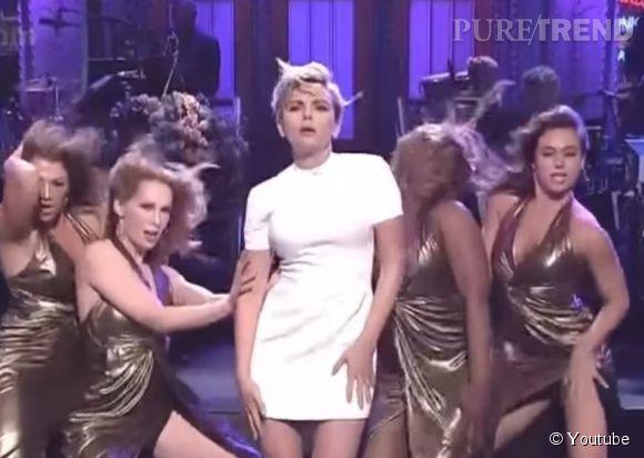 """La danse lascive de Scarlett Johansson dans le """"Saturday Night Live"""", ce week-end sur  NBC ."""