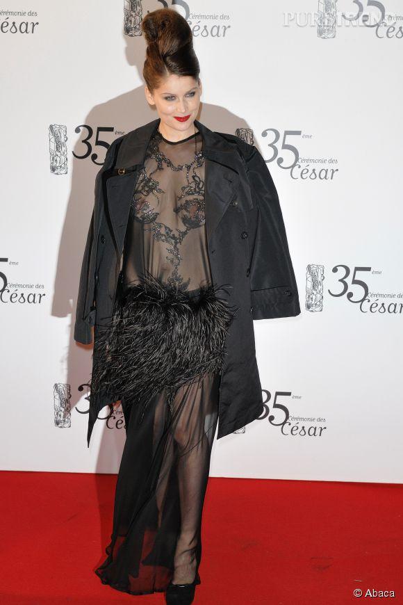 Laetitia Casta à la cérémonie des Césars en 2010