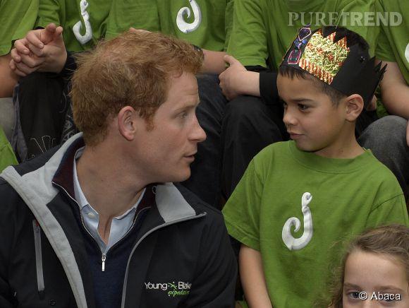 Le Prince Harry en visite dans une école de Nouvelle-Zélande.