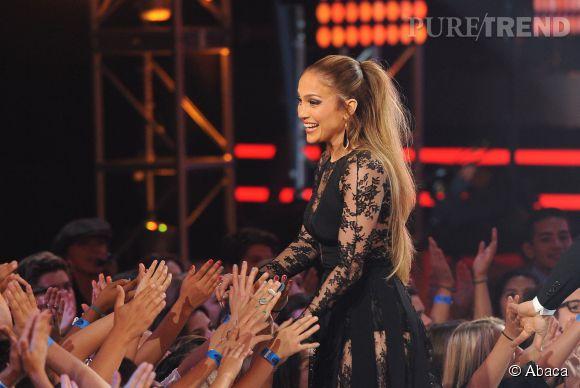 "Jennifer Lopez lors de la finale d'""American Idol"" le 13 mai, 2015 à Hollywood."