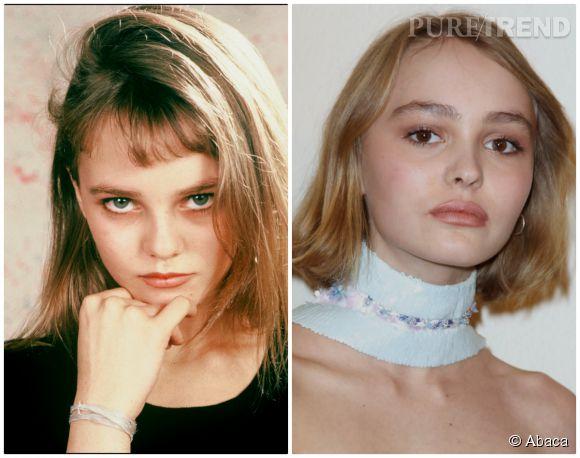 Lily-Rose Depp a hérité de la silhouette de sa mère et de ses cheveux.