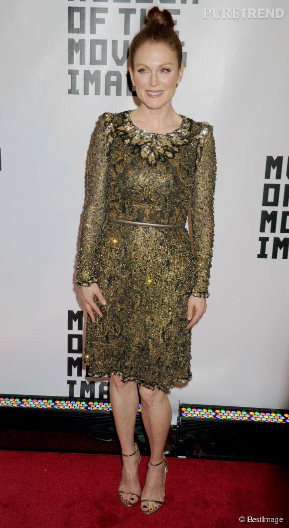 Julianne Moore, l'élégance incarnée Jimmy Choo aux pieds.