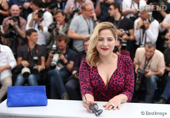 """Marilou Berry, radieuse au photocall de """"Vice Versa"""", nouveauté des studios Pixar présentée à Cannes hors compétition."""