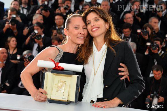 """Emmanuelle Bercot, ici avec Maïwenn, a reçu le prix d'interprétation féminine pour """"Mon Roi""""."""