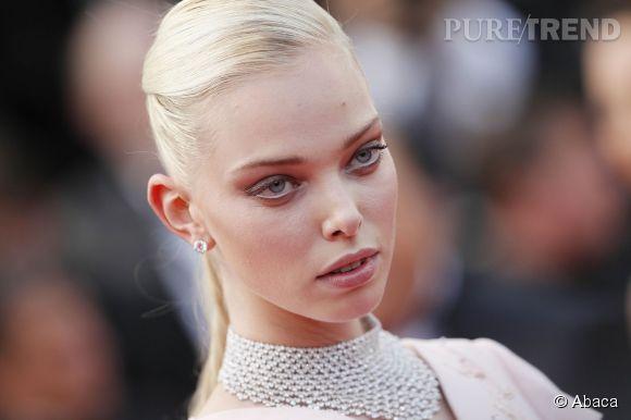Tanya Dziahileva sublimée par les diamants de Chopard lors du Festival de Cannes 2015.