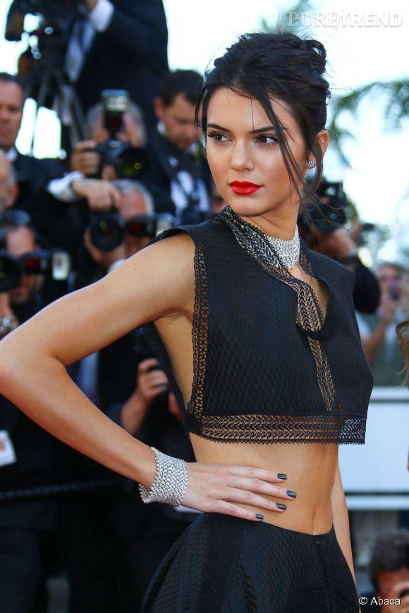 Kendall Jenner parée de diamants Chopard lors du Festival de Cannes 2015.