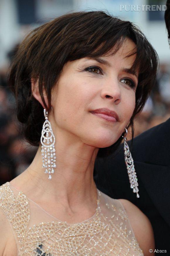 Sophie Marceau et ses diamants Chopard lors du Festival de Cannes 2015.