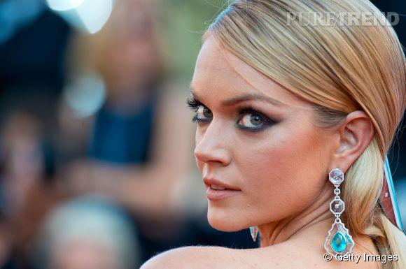 Lindsay Ellingson parée par Chopard lors du Festival de Cannes 2015.