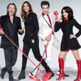 """Jenifer, Florent Pagny, Mika et Zazie : la joyeuse bande de """"The Voice""""."""