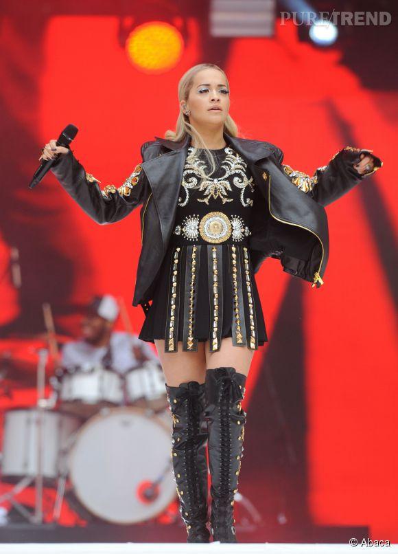 Rita Ora lors du Summertime Ball de Capital FM à Londres le 6 juin 2015.