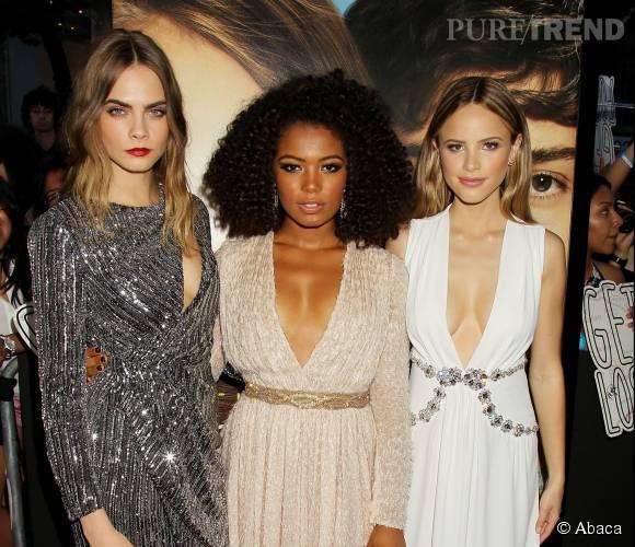 """Rencontre avec Cara Delevingne, Jaz Sinclair et Halston Sage, le casting féminin de """"La Face Cachée de Margo""""."""