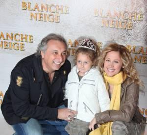 Lara Fabian et Gérard Pullicino avec leur fille Lou