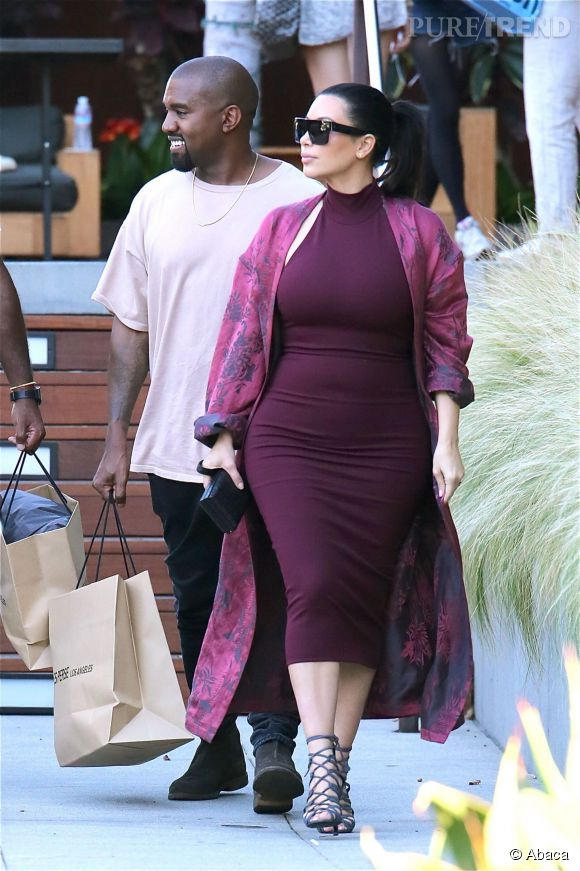 Kim Kardashian et Kanye West vont déjeuner avec des amis