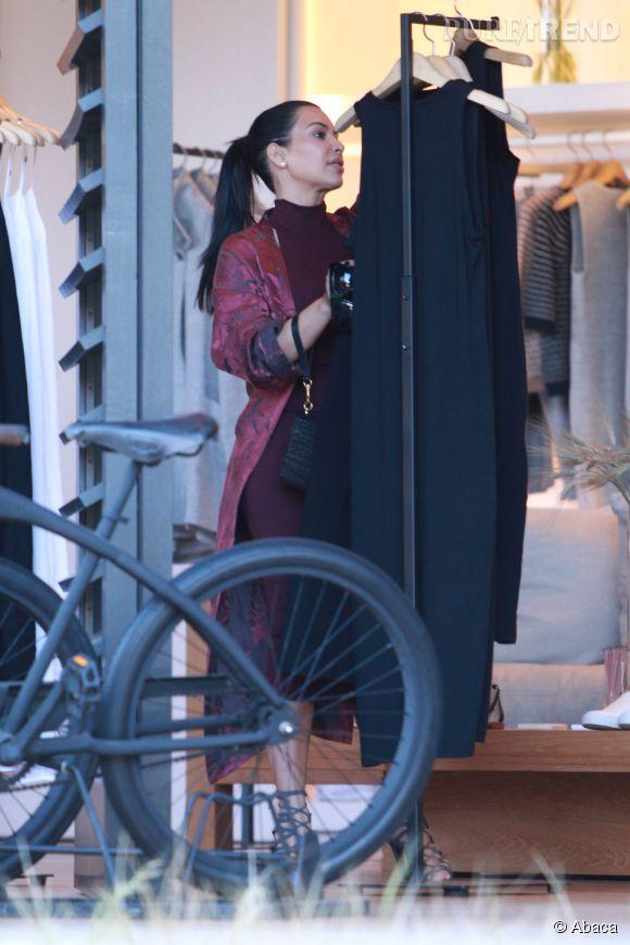 Kim Kardashian fait du shopping avec Kanye