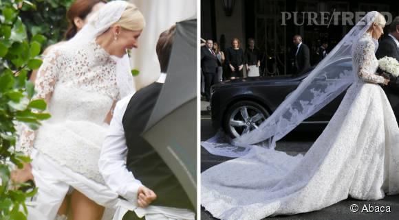 Un mariage catastrophe pour Nicky Hilton qui nous montre sa culotte.