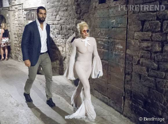 Lady Gaga à Pérouse le 14 juillet 2015.