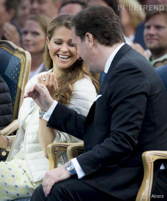 Sa soeur Madeleine était également présente aux côtés de son mari Chris O'Neil.