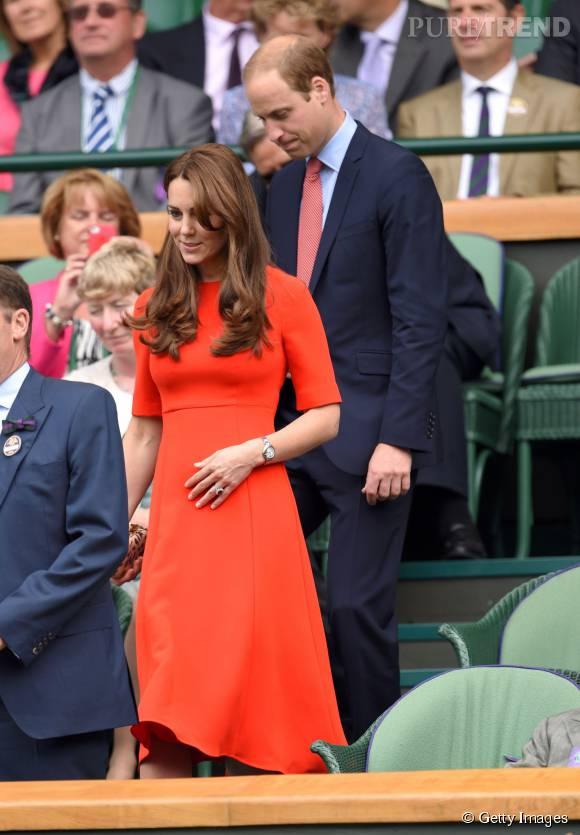 Kate Middelton n'a pas rechigné à sortir de chez elle pour aller à Wimbledon.