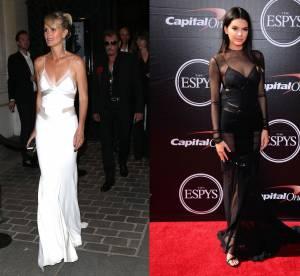 Laeticia Hallyday vs Kendall Jenner : la robe nuisette transparente Couture