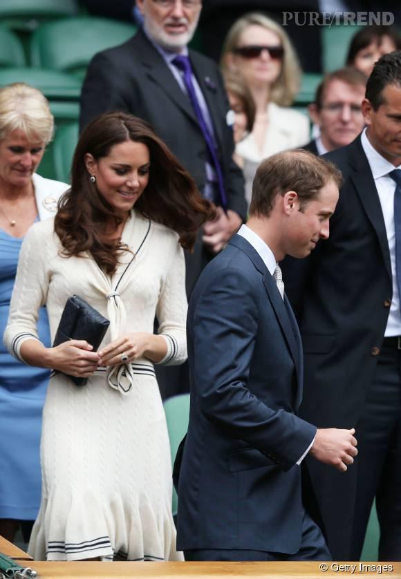Les gradins de Wimbledon ? Le meilleur endroit pour mettre du blanc selon Kate Middleton.