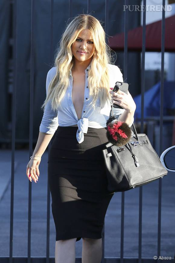 Ce week-end, Khloe Kardashian gardait ses deux nièces.