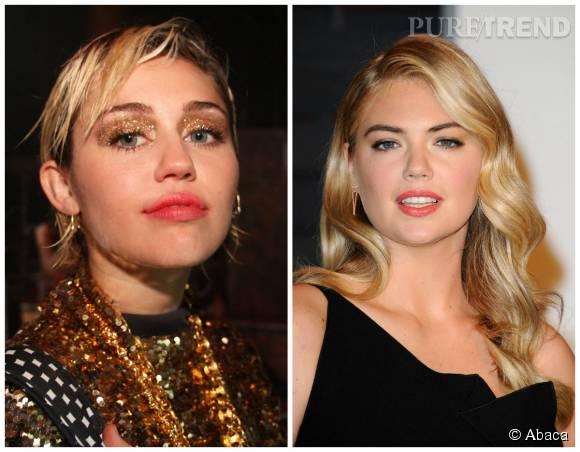 Kate Upton et Miley Cyrus ont toutes deux 23 ans.