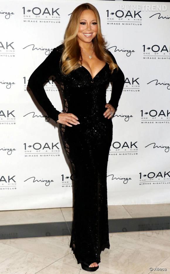 """Mariah Carey organise la soirée """"The Evening"""" à Las Vegas le 26 juillet 2015."""