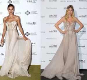 Irina Shayk vs Doutzen Kroes : la robe bustier transparente Versace
