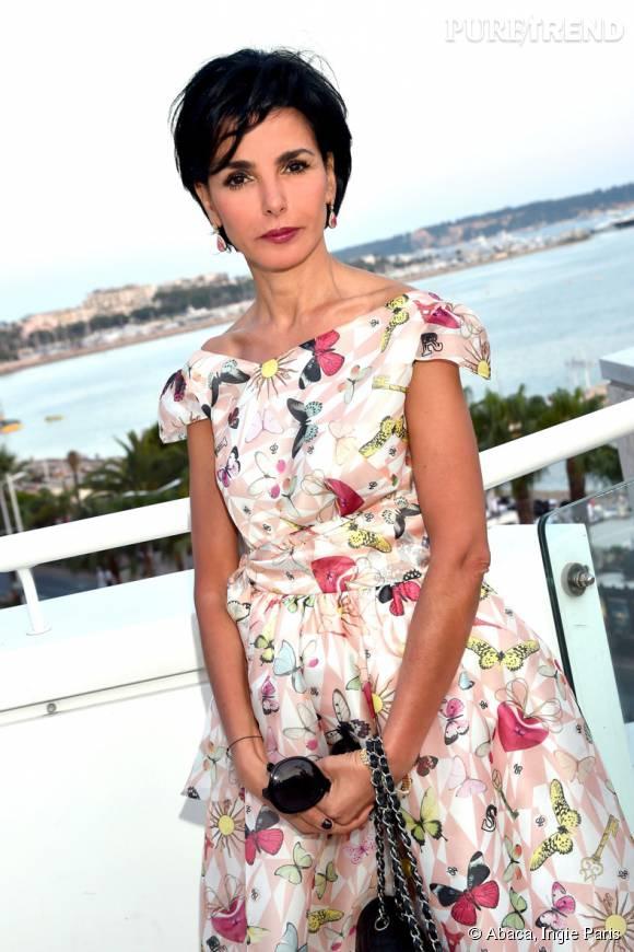 Rachida Dati porte une robe signée Ingie Paris.