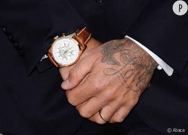 David Beckham et son LOVE en 2012.