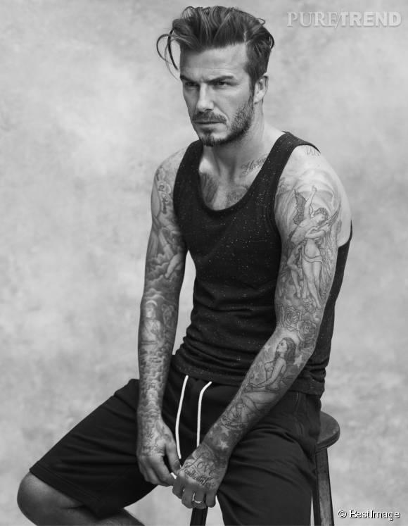 Les tatouages de David Beckham sont même devenus un argument de vente. Cette campagne H&M les met en valeur.