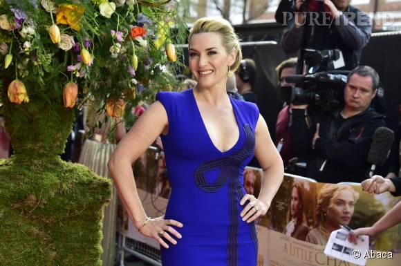 Kate Winslet raconte ses anciens complexes à Bear Grylls ce 27 juillet 2015.