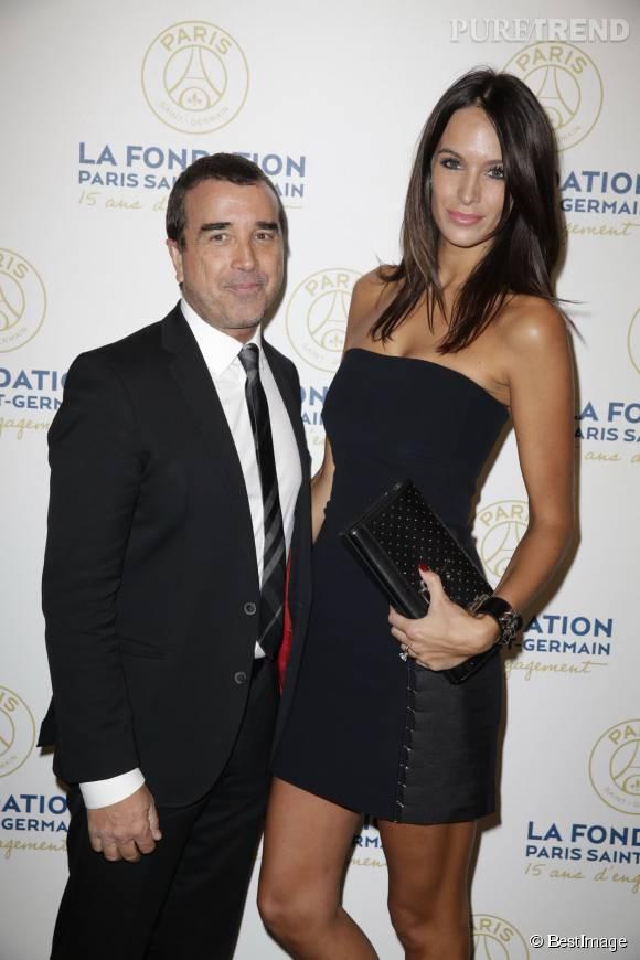 Jade Lagardère et son mari Arnaud, en janvier dernier.