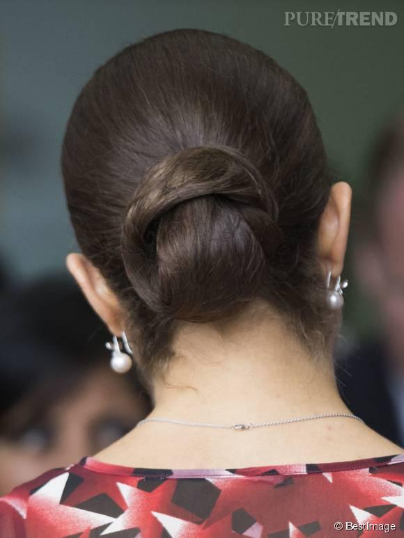 On se demande si un jour nous parviendrons à voir Victoria de Suède coiffée autrement qu'avec un chignon !