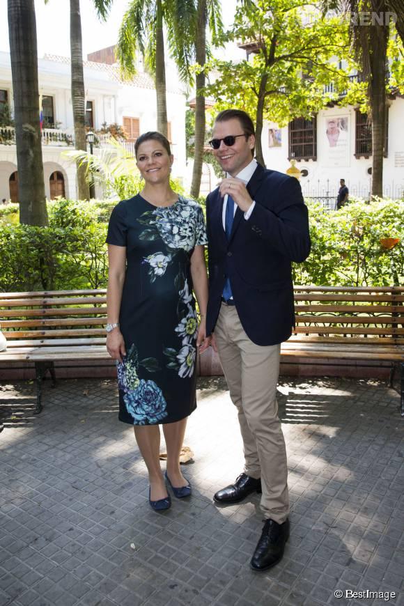 La princesse Victoria de Suède séduit Carthagène des Indes en Colombie le 21 octobre 2015.